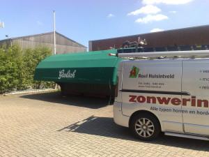 Grote markies bekleden cafe du midi Roel Huisintveld zonwering bemmel